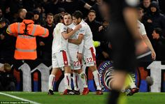 The home supporters protest as Xherdan Shaqiri installs life into the clash with bottom of...