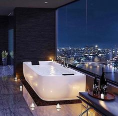 Huge Tub With A View