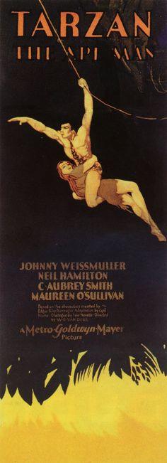 Tarzan The Ape Man 14x36 Movie Poster (1932)