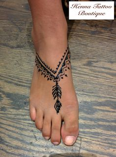 boho feet henna tattoo designs:)