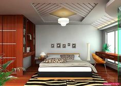 Present Day Ceiling Concepts For Intriguing Bedroom In Pretty Accent Patterns With Amazing Decor - http://www.bedroomdesignz.com/bedroom-decorating-ideas/present-day-ceiling-concepts-for-intriguing-bedroom-in-pretty-accent-patterns-with-amazing-decor.html
