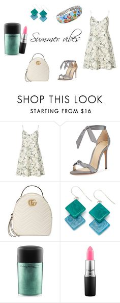 """summer vibes"" by daughteroftheharpy on Polyvore featuring мода, Zimmermann, Alexandre Birman, Gucci, Encanto, MAC Cosmetics и Belle Etoile"