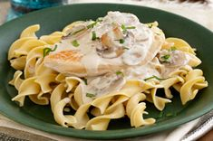 Chicken with Creamy Mushroom Sauce recipe - NEW! For more great ideas, check out our Festive issue of what's cooking online! www.kraftcanada.com/onlinemag