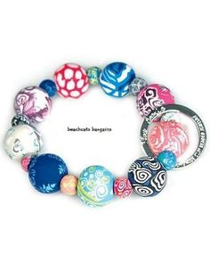 Viva Beads MAGICAL MULTI Wrist Key Chain Bracelet Handcrafted Clay Jewelry Other colors / patterns available @ beachcats bargains...GREAT Graduation Gifts! $19.90 stores.ebay.com/...