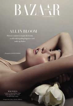 "Katie Fogarty By David Slijper ""All In Bloom"" Harper's Bazaar UK May 2013"