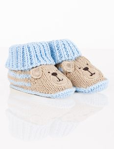 Bear Crocheted Baby Booties By Carters
