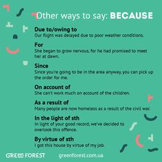 Other ways to say: Because