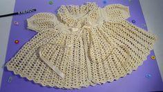 Canesú Vestido Ropón Ganchillo Crochet Baby Dress DIY