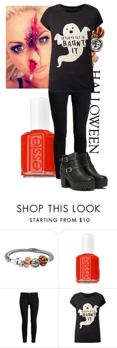 """Halloween Outfit"" by ktwigan ❤ liked on Polyvore featuring Trollbeads, Essie and Proenza Schouler"
