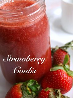 This strawberry sauce is perfect on vanilla ice cream.