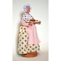Provence Santon La Patissiere, the Pastry Chef Lady, approx Clay body with Provençal fabric clothing. Provence, French Fabric, Eiffel, Pottery, Decorating, Table, Design, Ceramica, Decor