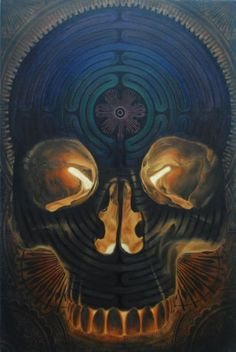 [Labyrinth of Consciousness.  Beau Stanton.] I see so much potential and possibility in the death of old ways and habits, the shedding of that skin that no longer serves you, and the awakening of what you will become next. #sarahlyn