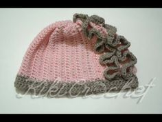 Crochet Ruffle Stitch Hat (English Tutorial- pt 1)