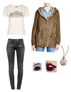 """""""Chandelier"""" by rainbowchanrawr on Polyvore featuring Balmain, Free People, Topshop and Charlotte Tilbury"""