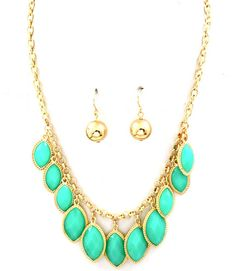 Turquoise Necklace & Earring Set at www.facebook.com/oceaniqueboutique