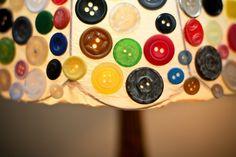 "Hand made lamp ""1000 buttons"" by Natasha Babenko, via Behance"