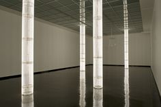 """Cerith Wyn Evans, """"S=U=P=E=R=S=T=R=U=C=T=U=R=E ('Trace me back to some loud, shallow, chill, underlying motives overspill')"""", 2010"""