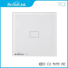 Broadlink TC2 EU Standard 1 Gang mobile Wireless Remote Control Light Switch switch by broadlink rm pro,Smart Home Automation