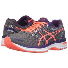 dd1d8f5fbb ASICS Gel-Excite 4 (Shark Flash Coral Parachute Purple) Women s... ( 65) ❤  liked on Polyvore featuring shoes