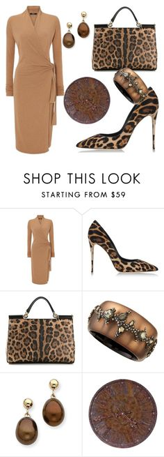 """""""Brown"""" by katleenm ❤ liked on Polyvore featuring Dolce&Gabbana and Alexis Bittar"""