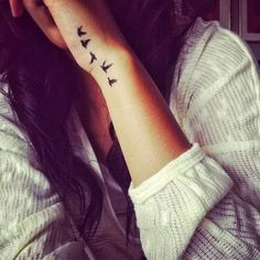 bird tattoos for wrist