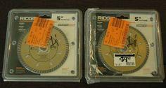 "Lot of (2) Ridgid 5"" Stone Diamond Blades Part# GS50SP #RIDGID"