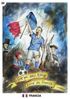"""Mes del mundial: Francia Junio, dia 20 Delfina Peydro http://delfinapeydro.tumblr.com/  """"Avec ou sans Ribéry, Vive la France!"""""""