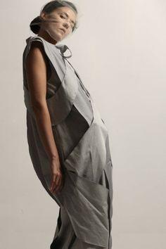 Sistan Varvara collection 8 lookbook photo - Andriy Goncharenko style - studio8 model - Anastasiia Chernenko Hairs&MUA - studio8
