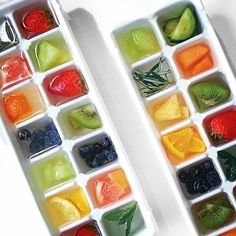 Infuse your ice cubes with fruit to make your drink cold and refreshing!