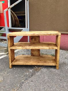 Upcycled scaffolding board TV unit