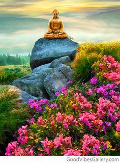 "L〰Buddha online — goodvibesgallery: ""Serene Stillness"" — Behind the. Buddha Meditation, Buddha Zen, Buddha Buddhism, Meditation Music, Meditation Images, Buddha Peace, Buddha Artwork, Buddha Painting, Yoga Painting"