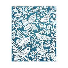 5x7 Wild Birds  Print of Original Papercut by SarahTrumbauer, $12.00