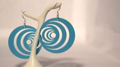optical illusion series. from 4.90€ on  http://www.objets3d.com/boucles-d-oreilles-illusion-optique-1-bleu.html