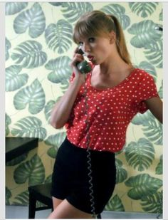 Taylor Swift Style, Taylor Alison Swift, Polka Dot Shirt, Polka Dots, Taylor Swift Music Videos, Red Taylor, Red Aesthetic, Black Shorts, Queens