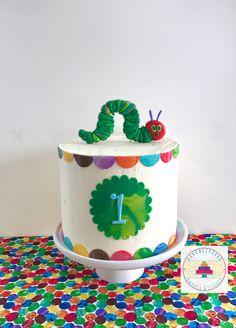 Cake smash, the very hungry caterpillar