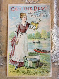 Victorian trade card for Grand Rapids Refigerator Co. - c. 1895