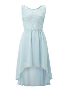 True Decadence Lace dip dress Light Blue - House of Fraser