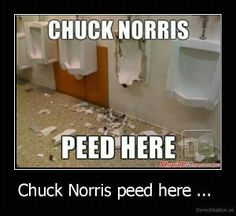 Chuck Norris... oh gosh yes I am pinning this!!!
