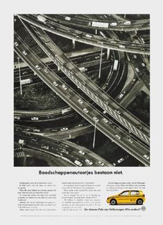 Read more: https://www.luerzersarchive.com/en/magazine/print-detail/vw-volkswagen-6324.html VW Volkswagen There is no such thing as a shopping car. Copy excerpt: There are big cars and small cars. There are status symbol cars and cars for convencience. All of them have one thing in common: they are all road users... and should be equally safe. Pay-off: The new Polo from Volkswagen. Who else? Tags: VW Volkswagen,Erik Wünsch,Reinoud Klazes,DDB, Amsterdam,Lode Schaeffer