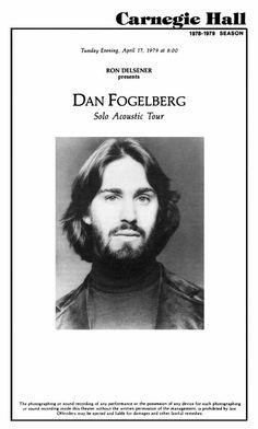 Carnegie Hall Carnegie Hall, Dans Fans, Advanced Prostate Cancer, Peter Gabriel, 70s Music, I Miss Him, My Muse, Old Tv, Concert Posters