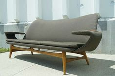 Modern and Sculptural Swedish Sofa | From a unique collection of antique and modern sofas at http://www.1stdibs.com/furniture/seating/sofas/