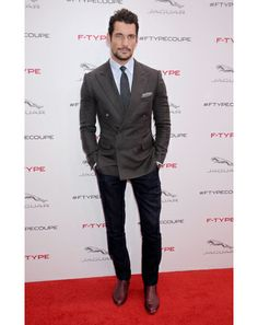 David Gandy in Los Angeles Grade-A suit separation going on here. Are you guys taking notes? Take notes.