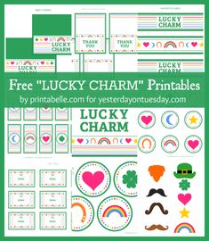 Free St. Patrick's Party Printables - lots of stuff here!