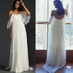 Bohemia Lace Wedding Dresses 2016 Unique Bat Wing Spaghetti Straps Open Back Beach Wedding Gowns Fairy Cheap Bridal Gown Bridal Dresses Online Bridal Store From Yiyi81, $99.5| Dhgate.Com