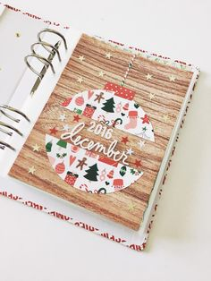 My December Daily cover page! Using a mix of different products from . December Daily, Christmas Journal, Christmas Albums, Xmas, Christmas Scrapbook Layouts, Scrapbooking Layouts, Foto Baby, Daily Journal, Studio Calico