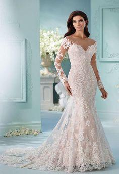 Stunning Tulle Off-the-shoulder Neckline Mermaid Wedding Dress