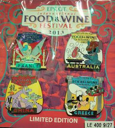 Epcot Food and Wine Festival 2013 Disney Pins ~ Disney Pins $1.15 + Up