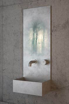 The Practice of Everyday design; Matte and Polished Stainless Steel Sink and Mirror, 2013.