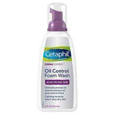Cetaphil Derma Control Oil Control Foam Wash - 8 Oz. #BioOilStretchMarks Oil Control Moisturizer, Moisturizer For Oily Skin, Oily Skin Care, Acne Prone Skin, Facial Cleanser, Skin Care Tips, Dry Skin, Skin Tips, Best Skincare Products