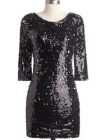 Black sparkle dress AND a hot pink dress. Yes to both.